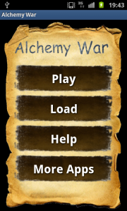 Alchemy war menu screenshot